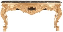 Isadore Marble Console Table - Gold Leaf