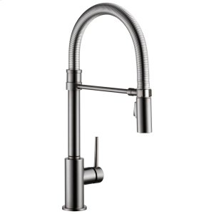 Black Stainless Single Handle Pull-Down Kitchen Faucet With Spring Spout Product Image