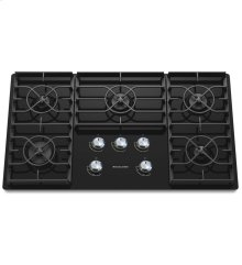 36-Inch 5 Burner Gas Cooktop, Architect® Series II - Black- IN STORE ONLY (FLOOR MODEL)