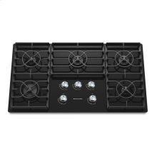 36-Inch 5 Burner Gas Cooktop, Architect® Series II - Black- IN STORE ONLY (FLOOR MODEL)