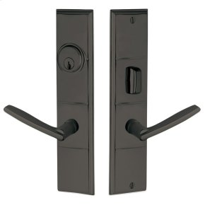 Oil-Rubbed Bronze Houston Escutcheon Entrance Set