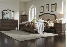 Queen Panel Bed, Dresser & Mirror, Chest, NS