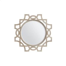 Juniper Dell Accent Mirror - Tarnished Silver Leaf