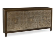 Faux Bois Three-Door Credenza