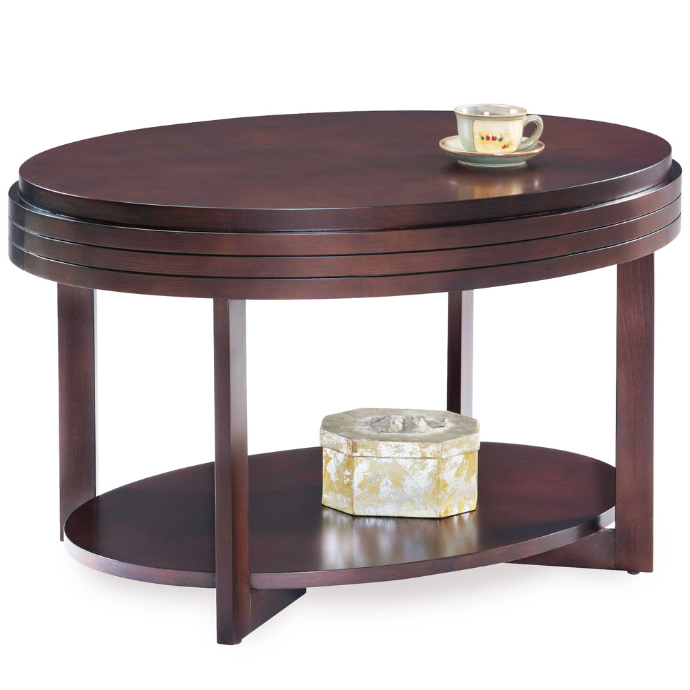 Chocolate Cherry Oval Condo/Apartment Coffee Table #10109 CH