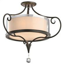 Lara Collection Lara 2 Bulb Semi-Flush Ceiling Light - SWZ