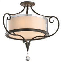 Lara Collection Lara 2 Bulb Semi-Flush Ceiling Light - SWZ
