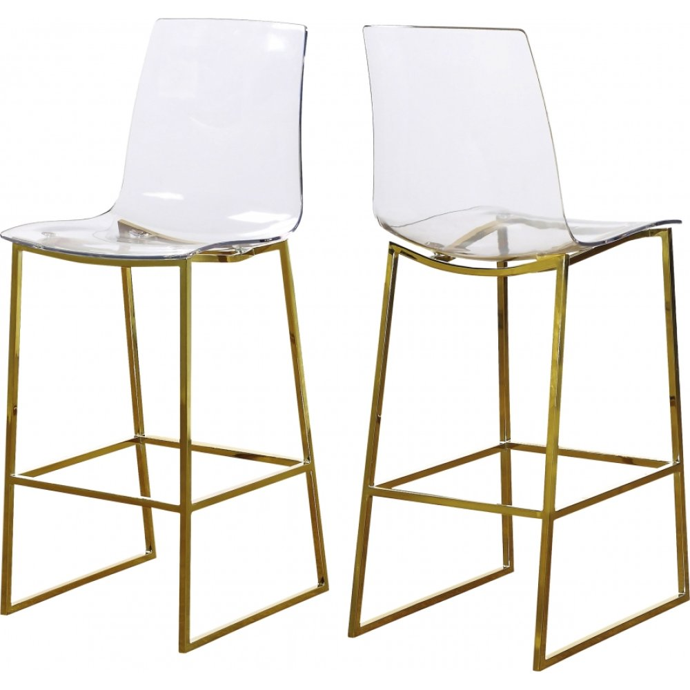 "Lumen Gold Counter Stool - 16.5"" W x 20.5"" D x 43"" H"