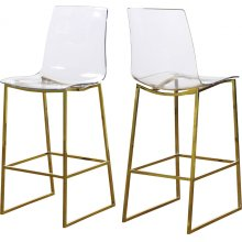 "Lumen Gold Counter Stool - 16"" W x 21"" D x 42.5"" H"