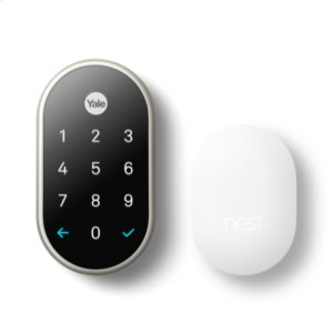 Nest x Yale Lock with Nest Connect, Satin Nickel