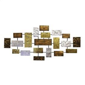 "Metal Wall Decor, Rectangles, 44"", Multi Wb"