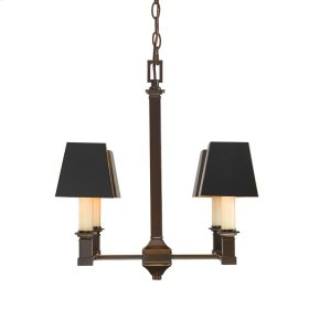 Smithsonian Bradley 4 Light Chandelier in Cordoban Bronze with Black Shades