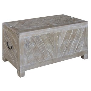 CRESTVIEW COLLECTIONSBengal Manor Light Mango Wood Sliding Top Cocktail Table w/ Wine Storage