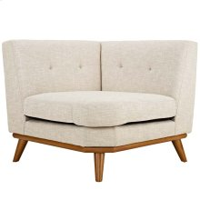 Engage Upholstered Fabric Corner Sofa in Beige