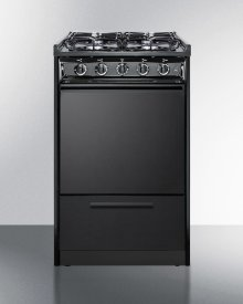 "20"" Wide Slide-in Gas Range In Black With Sealed Burners and Electronic Ignition; Replaces Tnm114r/ttm1107crs"