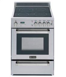 "Stainless Steel 24"" Self-Cleaning Electric Range"