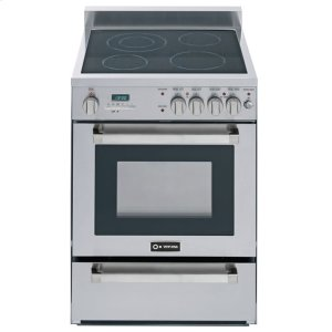 "VeronaStainless Steel 24"" Self-Cleaning Electric Range"