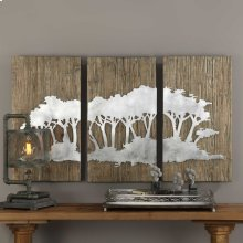 Safari Views Metal Wall Decor, S/3