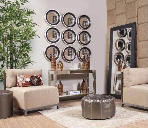 Contrasting Black & Lotus Orange Ceramic Vases - set of 3