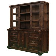 "China Hutch Top : 71"" x 19"" x 42"" Sierra Madre Medio Lacquer Display Cabinet"