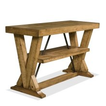 Summerhill Console Table Canby Rustic Pine finish