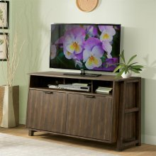Perspectives - Entertainment Console - Brushed Acacia Finish