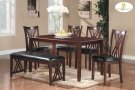 6-Piece Pack Dinette Set Table : 35.5 x 60 x 30H Chair : 18 x 20.75 x 38H Bench : 46 x 16.5 x 19H Product Image
