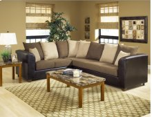 Trapper Brown / Bulldozer Java / Mocha Sectional
