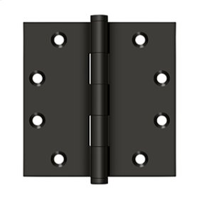 """4 1/2"""" x 4 1/2"""" Square Hinges - Oil-rubbed Bronze"""
