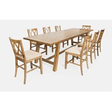 Telluride Trestle Table W/10 Stools