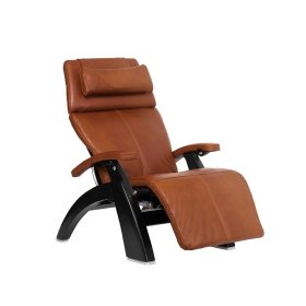Perfect Chair PC-600 Omni-Motion Silhouette - Cognac Premium Leather - Matte Black