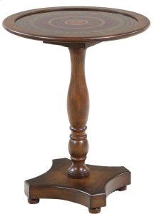 Myriad Walnut Glass Top End Table