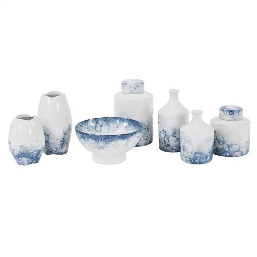 Blue and White Porcelain Tea Jar, Small