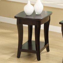 Annandale - Chairside Table - Dark Mahogany Finish