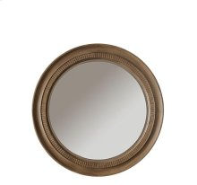 Sherborne Round Accent Mirror Toasted Pecan finish