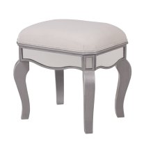 Dressing stool 18*14*18in.in clear mirror