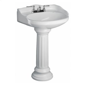 Vicki Pedestal Lavatory - Bisque Product Image