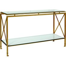 Montpelier Console Base with Glass Top & Shelves