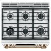 "Cafe 30"" Slide-In Front Control Dual-Fuel Double Oven With Convection Range"