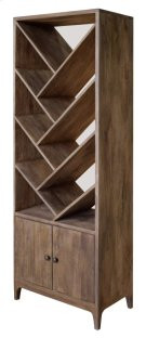 Bengal Manor Mango Wood Angled 2 Door Etagere Product Image