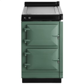"""AGA Hotcupboard 20"""" Electric Pistachio with Stainless Steel trim"""