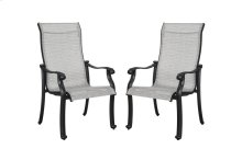 Emerald Home Versailles Outdoor Sling Chair-grey Cover-onyx Cast Aluminum Frame-od1045-25