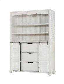 Emerald Home Abaco Complete Buffet & Hutch-country White D848-60-65-k