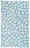 Stars Spa Blue Loop Hooked Rugs