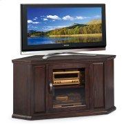 "Chocolate Oak 46"" Corner TV Stand #81286 Product Image"