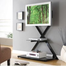 "Black Vertical ""X"" Back Plasma Stand"