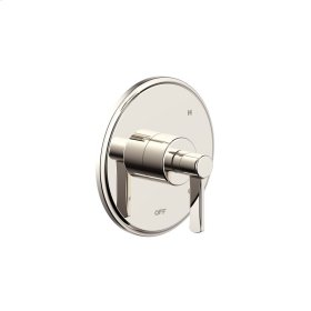 Shower Trim Plate with Handle Darby (series 15) Polished Nickel