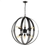 Carter 10 Light Pendant in Aged Bronze