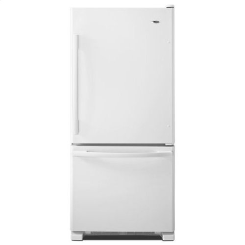 18.5 cu. ft. Bottom-Freezer Refrigerator with Greater Efficiency - white