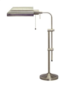 60W metal pharmacy table lamp w/adjustable pole (takes CFL bulb)
